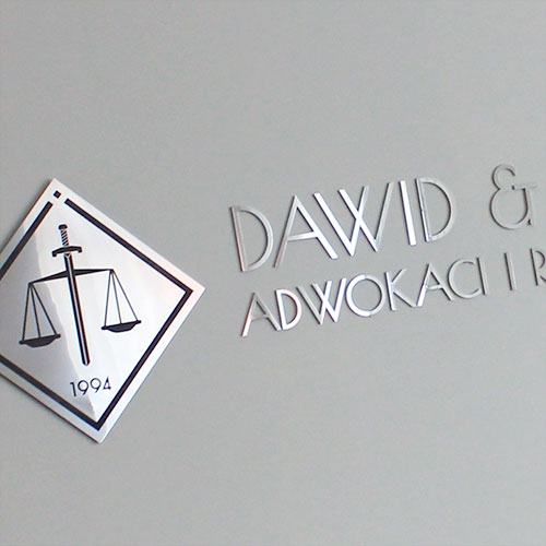 Logo ze stali nierdzewnej